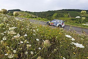 WRC Leg report Germany WRC: Mikkelsen leads Neuville, Latvala suffers breakdown