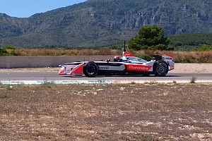 Formula E Breaking news Monteiro tests Mahindra Formula E car at Calafat