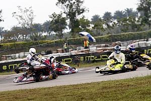 Kart Breaking news Chatterjee unhurt in major crash, Mohsin takes Micro Max title
