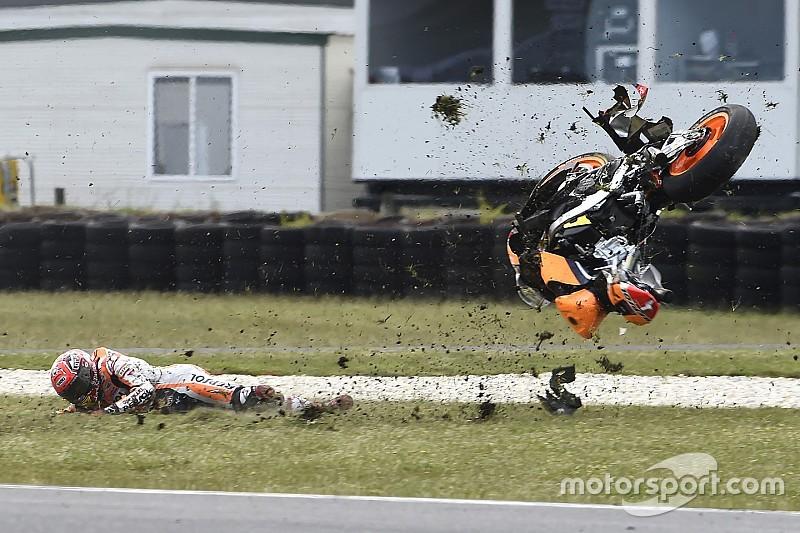 Marquez admits over-confidence caused Phillip Island crash