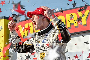IndyCar Race report Injured Newgarden dominates Iowa with record run