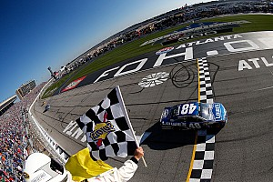 NASCAR Sprint Cup Race report Johnson takes Atlanta victory, matching Dale Earnhardt's win record
