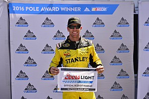NASCAR Sprint Cup Qualifying report Carl Edwards snags pole position from Larson at Watkins Glen