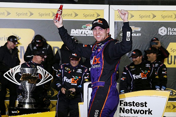 NASCAR Sprint Cup Hamlin gives Joe Gibbs Racing fourth Unlimited win in five years