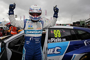 BTCC Race report Knockhill BTCC: Plato marks 500th start with first win of 2016