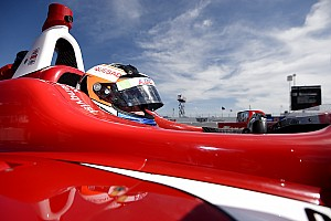 Indy Lights Race report Rosenqvist controls Race 2 to claim debut weekend win