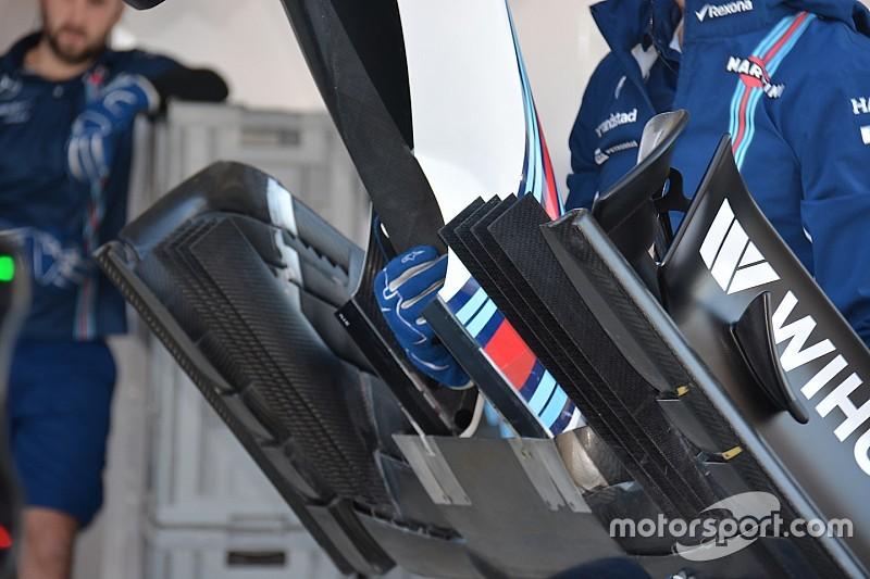 Williams: c'è una nuova ala anteriore sulla FW38