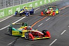 Formula E Di Grassi celebrates his 7th podium of the season