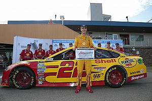 NASCAR Sprint Cup Qualifying report Logano edges Johnson for Michigan pole