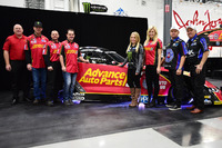 NHRA Photos - Courtney Force and family with Chevrolet Camaro Funny Car
