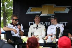 Ed Carpenter, Spencer Pigot, Ed Carpenter Racing Chevrolet, Josef Newgarden, Ed Carpenter Racing Chevrolet