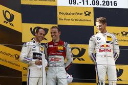 Podium: Race winner Marco Wittmann, BMW Team RMG, BMW M4 DTM; second place Tom Blomqvist, BMW Team RBM, BMW M4 DTM; third place Jamie Green, Audi Sport Team Rosberg, Audi RS 5 DTM