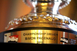 The trophy of Simon Pagenaud
