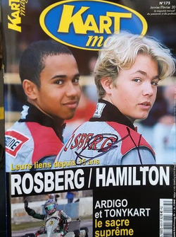 Cover Kartmag with Nico Rosberg and Lewis Hamilton