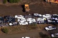 Automotive Fotos - Los BMW destruidos en un accidente de tren