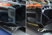 Formula 1 Photos - McLaren MP4-31 sidepod comparison
