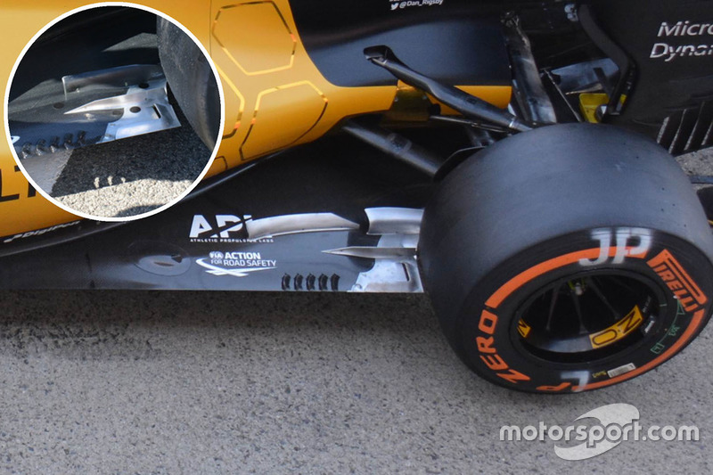 Renault Sport F1 Team RS16 floor detail