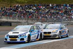 Jason Plato, Subaru Team BMR; Sam Tordoff, Team JCT600 with GardX