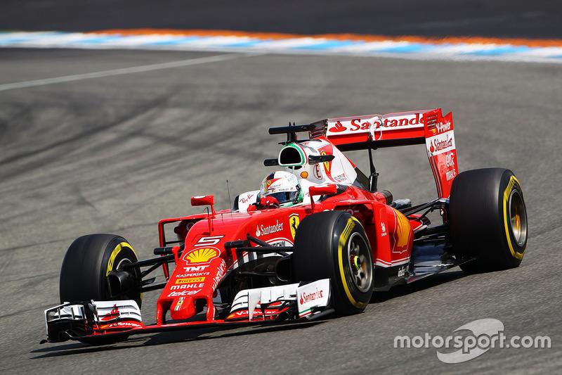Sebastian Vettel Ferrari Sf16 H At German Gp