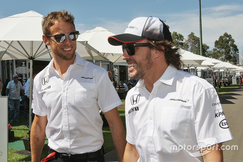 Jenson Button, McLaren with Fernando Alonso, McLaren