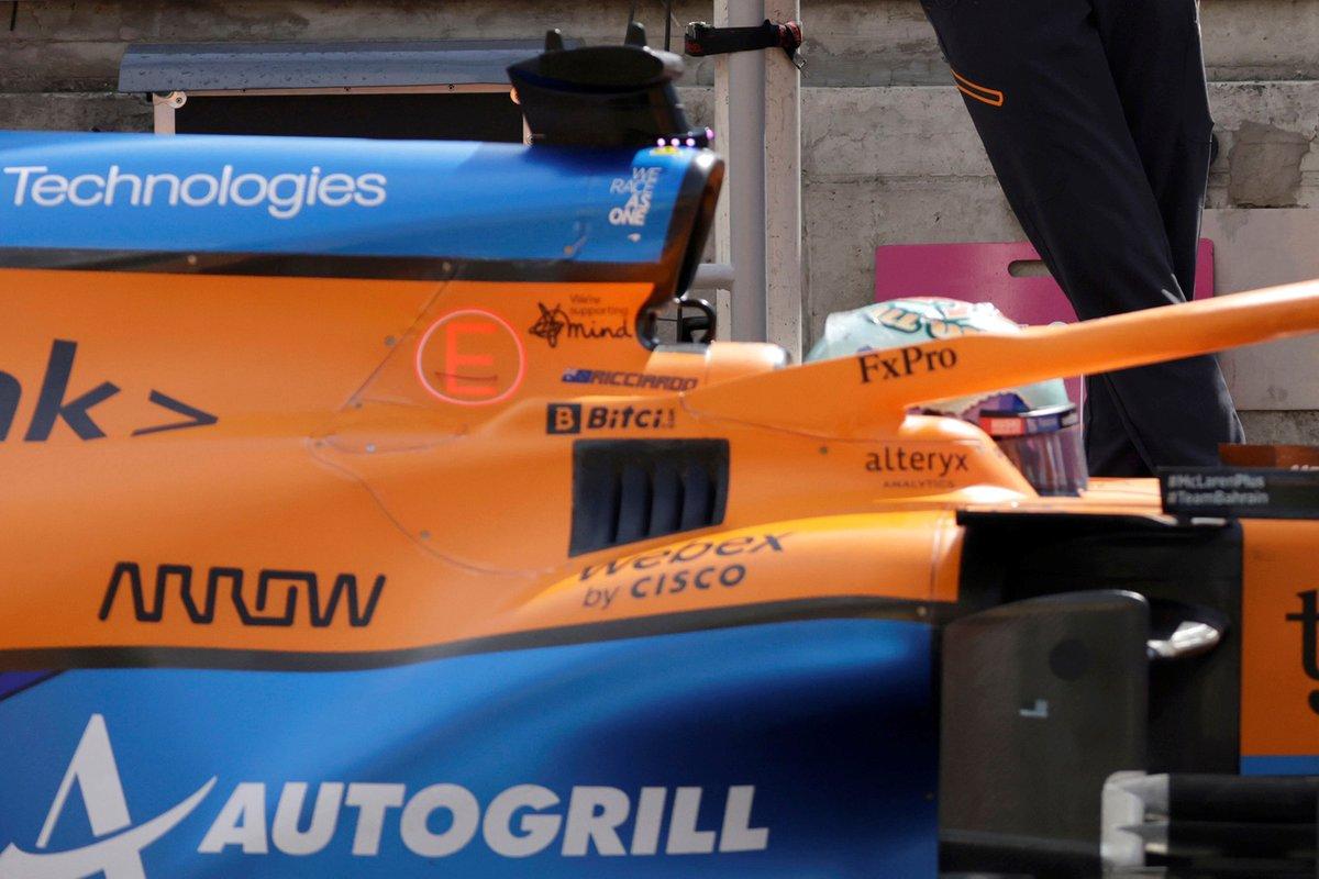 McLaren MCL35M cockpit cooling panel