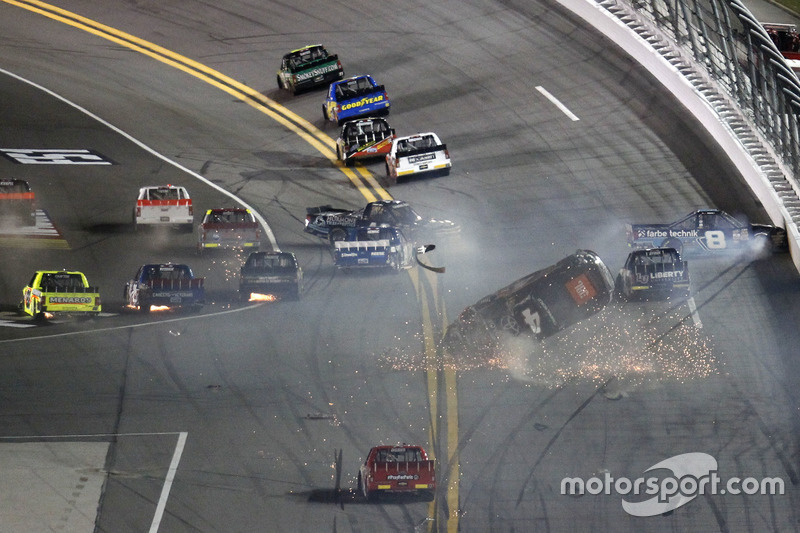 6. Crash: Christopher Bell, Kyle Busch Motorsports Toyota