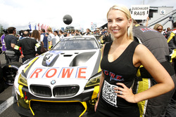 Grid girl of #23 ROWE Racing, BMW M6 GT3: Alexander Sims, Philipp Eng, Maxime Martin, Dirk Werner