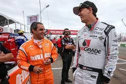 Juan Pablo Montoya, Team Penske Chevrolet, Graham Rahal, Rahal Letterman Lanigan Racing Honda