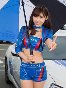 Lovely Subaru Breeze grid girl