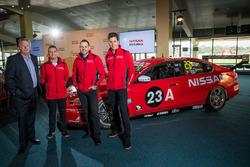 Richard Emery, Nissan Australia Managing Director & CEO, Rick Kelly, Nissan Motorsport, Michael Caruso, Nissan Motorsport and Todd Kelly, Nissan Motorsport