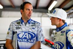 Trevor Bayne, Roush Fenway Racing Ford with his crew chief, Matt Puccia