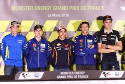 Aleix Espargaro, Team Suzuki MotoGP, Jorge Lorenzo, Yamaha Factory Racing, Marc Marquez, Repsol Honda Team, Valentino Rossi, Yamaha Factory Racing, Loris Baz, Avintia Racing