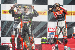 Podium: winner Tom Sykes, Kawasaki Racing