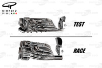 Formula 1 Photos - McLaren MP4/31 front wing comparison, United States GP