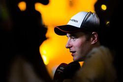 Stoffel Vandoorne speaks to media after finishing with point at his debut