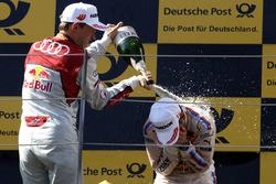 Podium: Mattias Ekström, Audi Sport Team Abt Sportsline, Audi A5 DTM and Timo Glock, BMW Team RMG, BMW M4 DTM