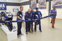 World Superbike Photos - The ribbon cutting ceremony with Sylvain Guintoli and Alex Lowes