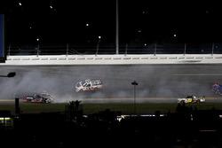 Crash: Rico Abreu, ThorSport Racing Toyota; Cameron Hayley, ThorSport Racing Toyota
