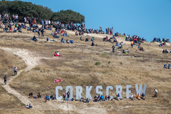 Fans watching the race at Laguna Seca