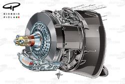 Red Bull RB10 front brake caliper