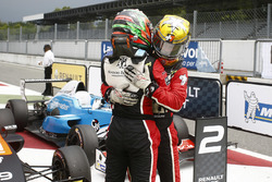 Race 2 winner Dorian Boccolacci, Tech 1 Racing and third place Sacha Fenestraz, Tech 1 Racing
