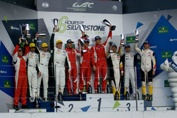 LMGTE Am podium: winners Francois Perrodo, Emmanuel Collard, Rui Aguas, AF Corse, second place Paul Dalla Lana, Pedro Lamy, Mathias Lauda, Aston Martin Racing, third place Paolo Ruberti, Yutaka Yamagishi, Pierre Ragues, Larbre Competition
