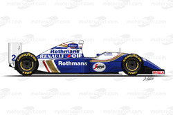 Williams FW16 driven by Ayrton Senna