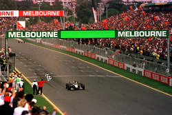 David Coulthard wins the first race of the season in Melbourne beating Michael Schumacher and Mika Hakkinen