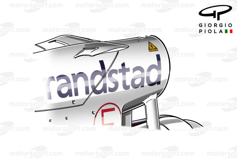 Williams FW38 airbox winglet