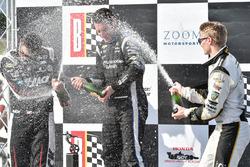 Podium: winner Simon Pagenaud, Team Penske Chevrolet, second place Graham Rahal, Rahal Letterman Lanigan Racing Honda, third place Josef Newgarden, Ed Carpenter Racing Chevrolet