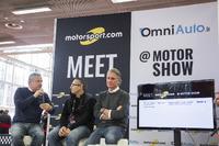 Prodotto Foto - Julian Thomas, Responsabile Ufficio Stampa Ducati MotoGP, Matteo Nugnes, Motorsport.com, Paolo Ciabatti, Responsabile Programma MotoGP Ducati