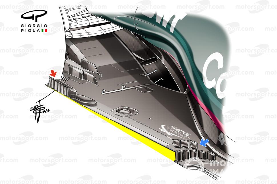 Piso del Aston Martin AMR21