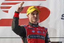 Podium: winner Tim Slade, Brad Jones Racing Holden
