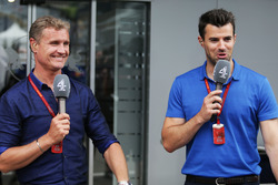 (L to R): David Coulthard, Red Bull Racing and Scuderia Toro Advisor / Channel 4 F1 Commentator with Steve Jones, Channel 4 F1 Presenter